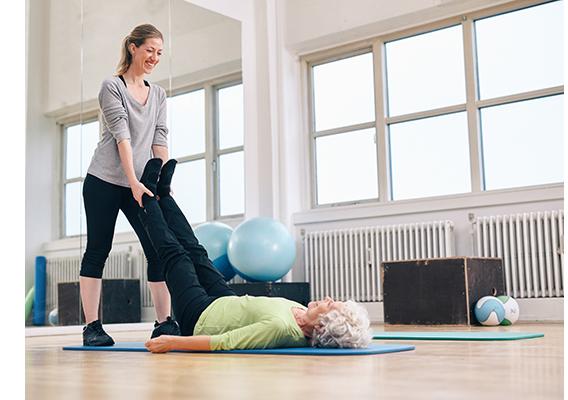 trainer and senior client cancer exercise training institute
