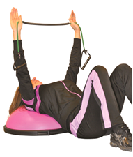 supine reverse fly BOSU(R) Cancer Exercise Training Institute