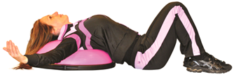 Chest fly BOSU(R) Cancer Exercise Training Institute