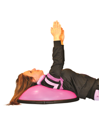 shoulder flexion on BOSU cancer exercise training institute