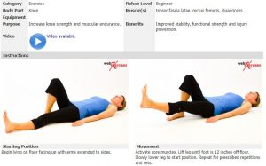supine leg raise cancer exercise training institute