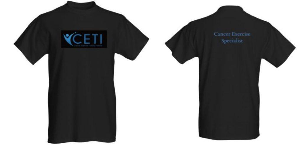 Men's t-shirt cancer exercise training institute