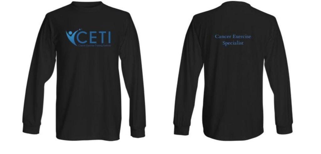 long sleeve shirt cancer exercise training institute